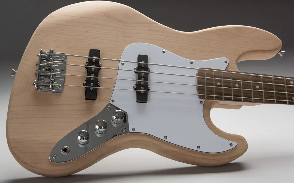 Silver J-Style Bass Guitar Kit