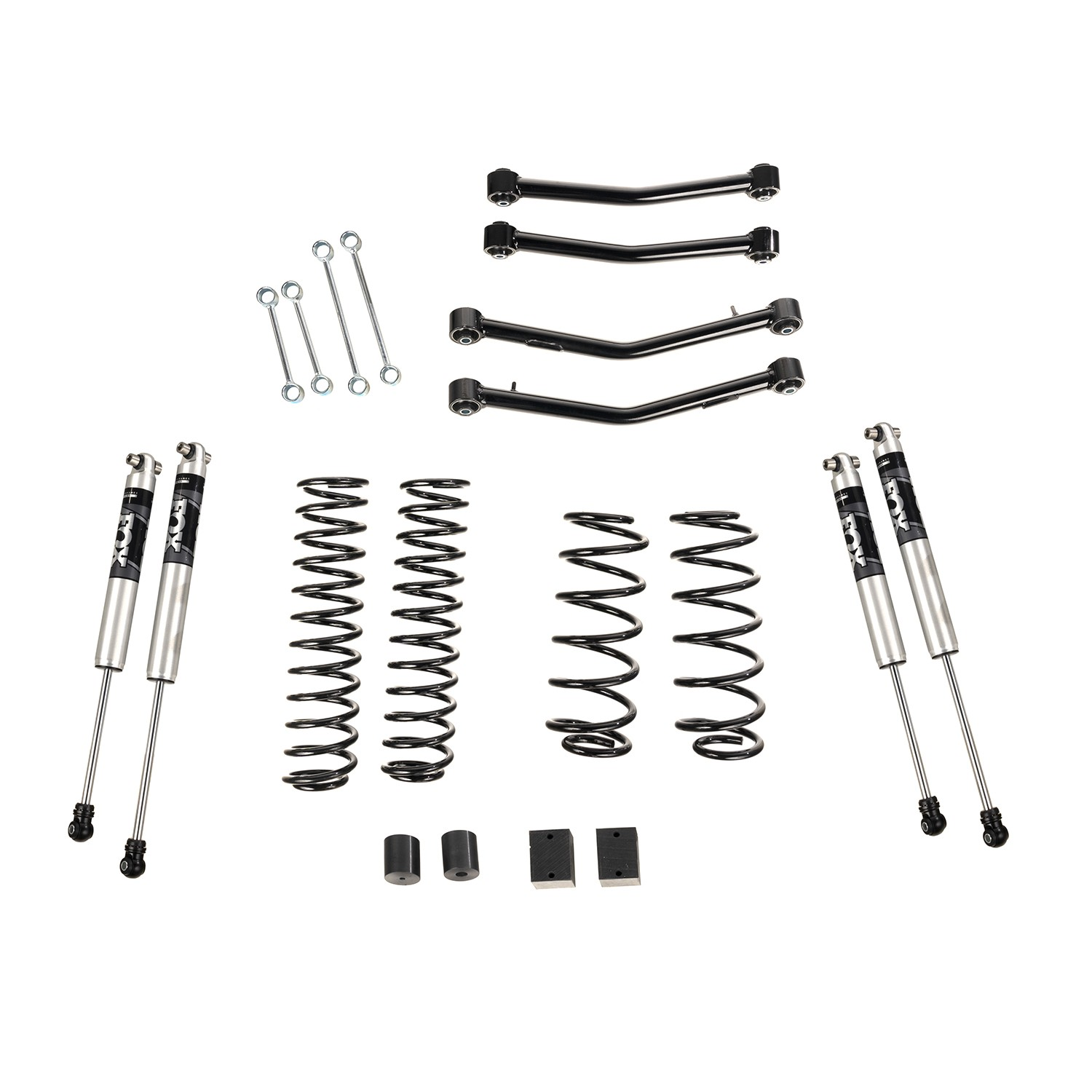 4 Lift Kit With Fox Shocks With Arms 18 19 Jeep