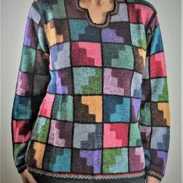 Pull-Tunique Multicolore Femme