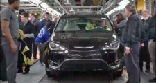 A new Chrysler Pacifica comes off Windsor Assembly Line