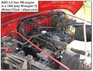 AMCJeep 25 liter fourcylinder engine