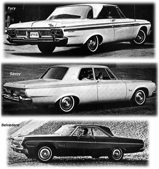Plymouth cars of 1964  Savoy  Belvedere  Fury  Valiant The Belvedere Six was  55 more than a Classic 770  and a Savoy Six was  22  more than a Classic 660  but the Belvedere came standard with a carpeted  floor