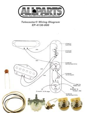 4Way Switch Wiring Kit for Telecaster | AllpartsItalia