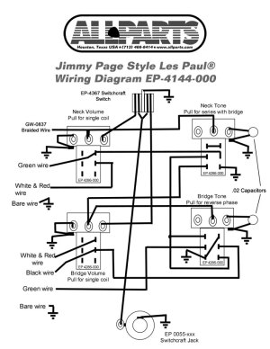 Wiring Kit for Jimmy Page Les Paul | AllpartsItalia