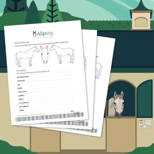 Horse Stall Card Illustration