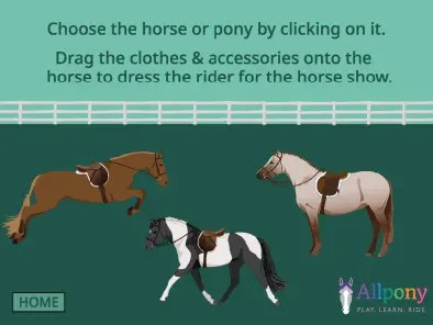 horse show dress up game