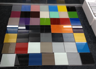 Painted glass splash back samples in derry city and Northern Ireland