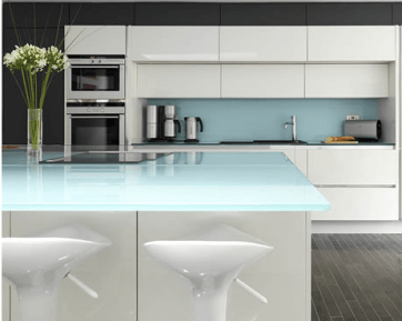 Back light modern kitchen Glass counter and table top in Ireland