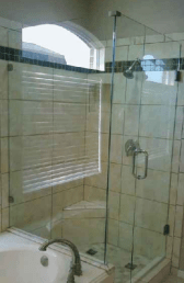 Framless full glass shower wet room enclosure in northern ireland