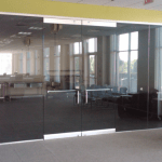 Northern ireland Commercial Glazier architectural glass derry city office renovations interior design frameless glass wall with glass door