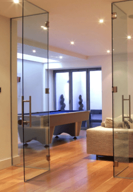 frameless glass door and partions in northern ireland