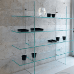 all sizes large shop displays Decourative Glass Furnityre made to measure designed and supplied UV Bonding quality hand made glass shelves and furniture Ireland