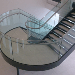 Bent Glass cruved stairs glass made in ireland cruved glass