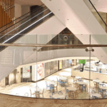 Irish interior design glass fit out commercial glass safety balustrades internal glass for shops in ireland repair and replace curved glass frameless