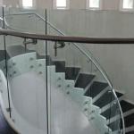 Irish self build home design glass stairs curved glass handrail glass balustrades ireland toughened safety glass curved glass Balcony ireland