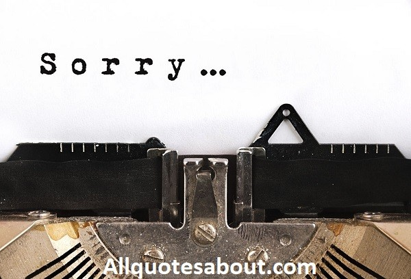 160+ Sorry Quotes and Saying