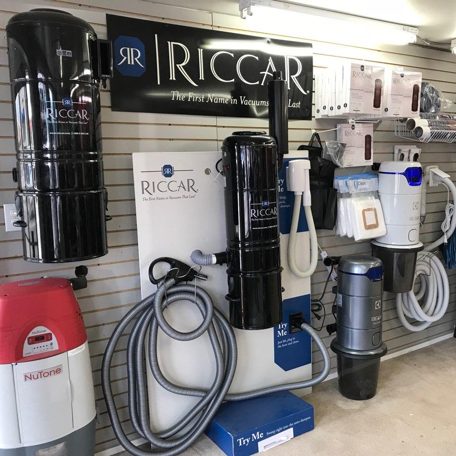 central vacuum showroom. Riccar central vacuum, Beam canister, NuTone central vacuum, central vacuum parts