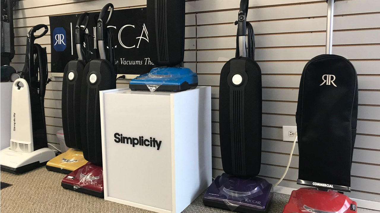 Riccar and SImplicity vacuums in Denver showroom
