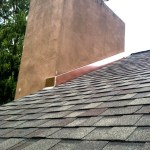 Copper Chimney Flashing Repair