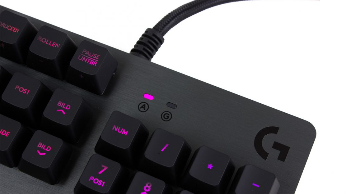 test logitech g513 gaming tastatur