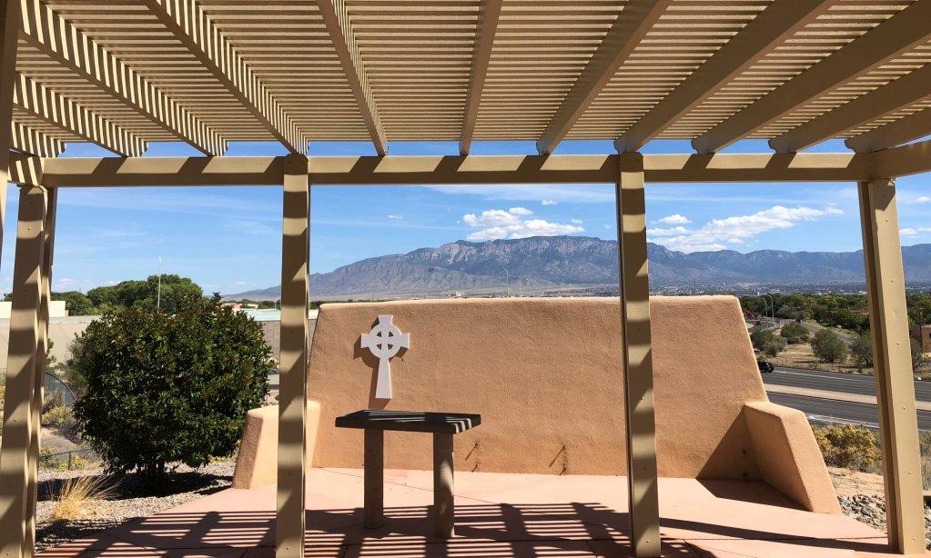 Outdoor pavillion at All Saints Lutheran Church