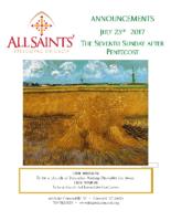 Announcements 07.23.2017 Pent 7