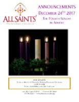 Announcements 12.24.2017 Advent 4
