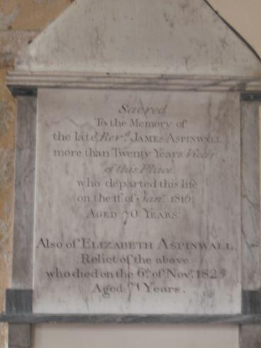 Rev James Aspinwall