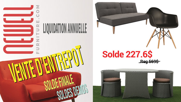 Sofa liquidation montreal for Meubles newell montreal