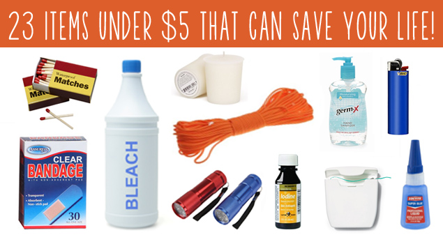 23 ITEMS UNDER $5 THAT CAN SAVE YOUR LIFE! - All Self-Sustained
