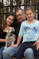 Family with Blu the Terrier