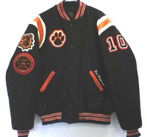 All-Star Embroidery Heath Varsity Jacket Front