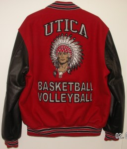All-Star Embroidery Utica Varsity Jacket Back