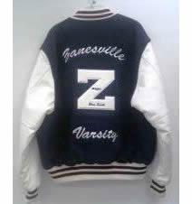 All-Star Embroidery Zanesville Varsity Jacket Back