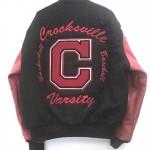 Crooksville Varsity Jacket Back