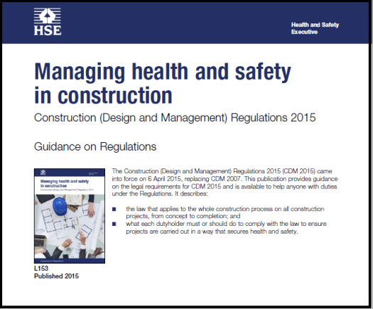 Construction Deign and Management Regulations 2015