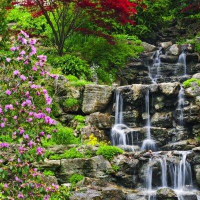 Фотообои Реалистичный водопад купить на Стену — Цены и 3D ...