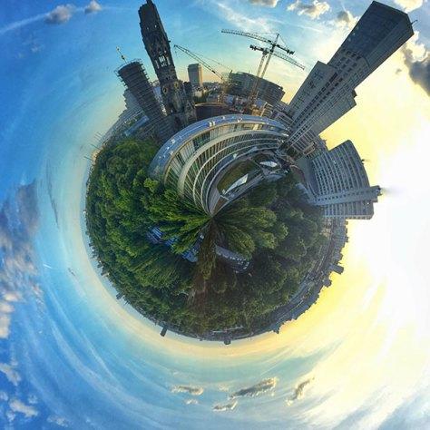 """Tiny Planet"" erstellt mit RollWorld"