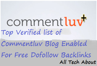 Verified list of Commentluv Blog