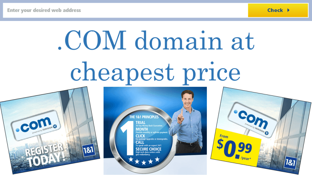 .com domain at cheap price