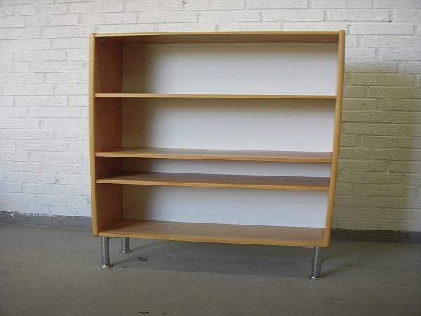 Allt För Kontor Tua 3 x A4 bokhylla med krom ben1