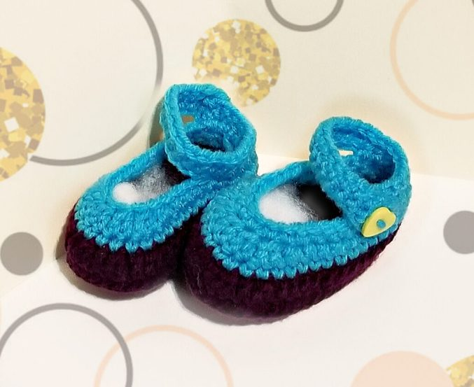 ankle strap baby booties 1