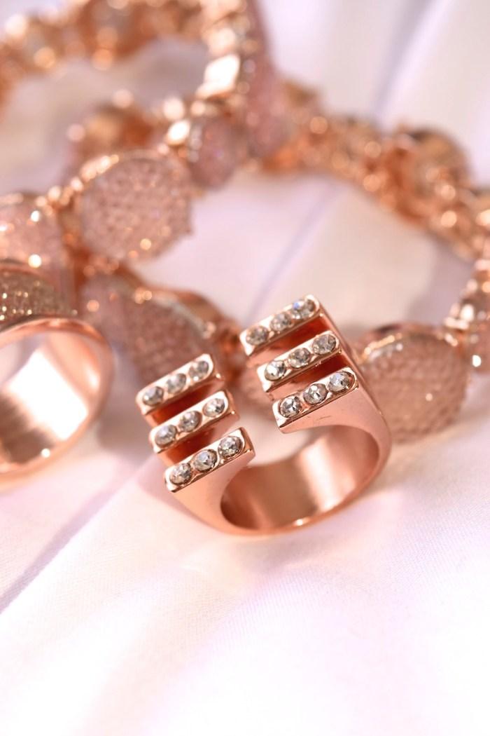 Rose Gold Bars Ring