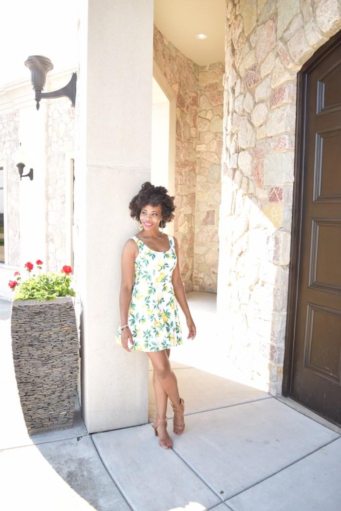 lemon-print-spring-dress