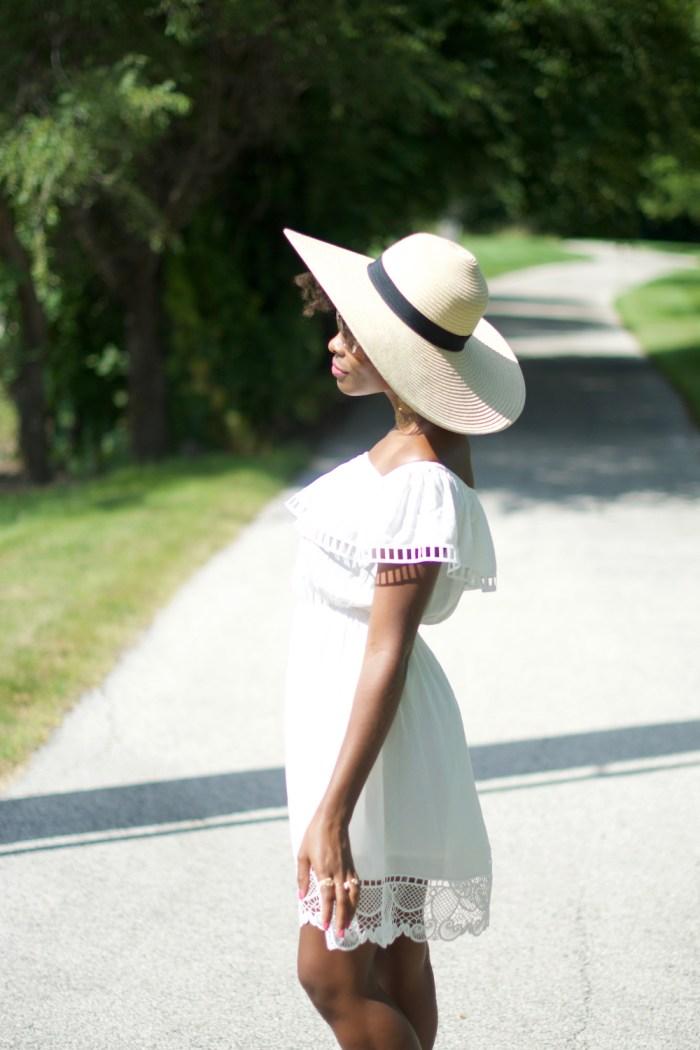 white-off-the-shoulder-dress-express