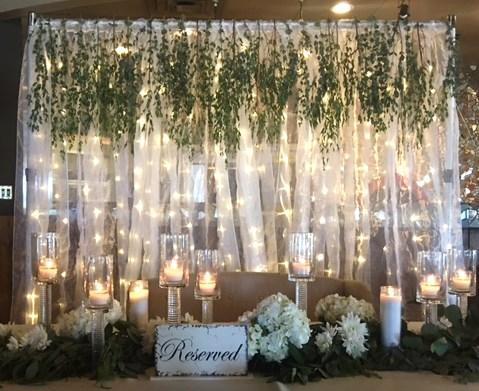 light up curtain backdrop