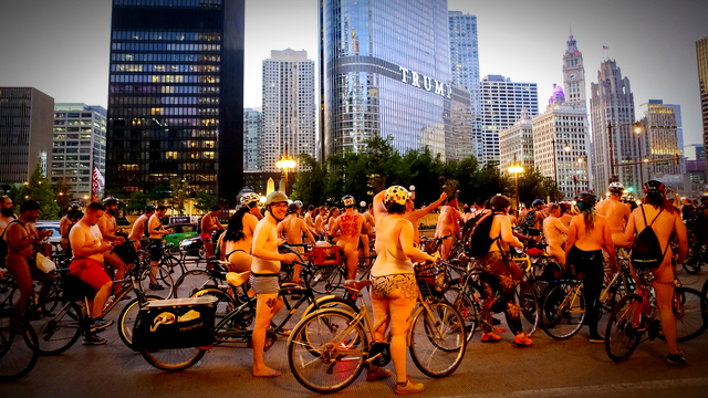 World naked bike ride chicago excellent, support