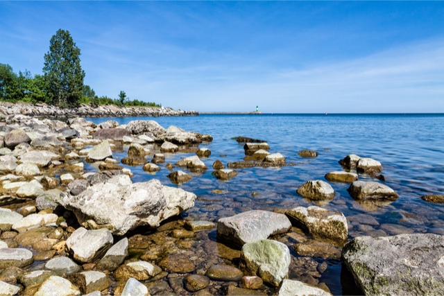 Sassnitz beaches in germany