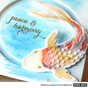 Hero Arts: Wishing You Peace and Harmony with the Paper-Layering Koi