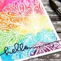 Distress Ink Watercoloring